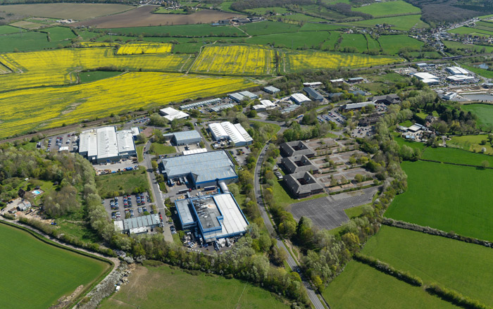 aerial shot of whitehorse business park